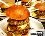 Foto zu Burger 600g Smoking BBQ Monster